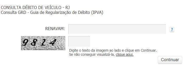 Emitir a Guia do IPVA RJ